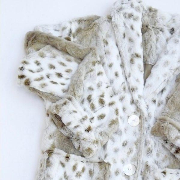 Bed Jacket Faux Fur MINI SNOW LEOPARD